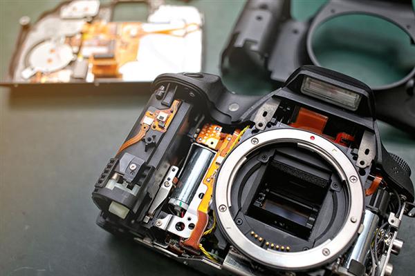Réparation d'appareil photo