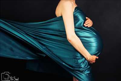 photo numérisée par le photographe Evvie à Strasbourg : photographie de grossesse