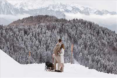 photographie de Malin  à Chamonix-mont-blanc : shooting photo spécial mariage à Chamonix-mont-blanc