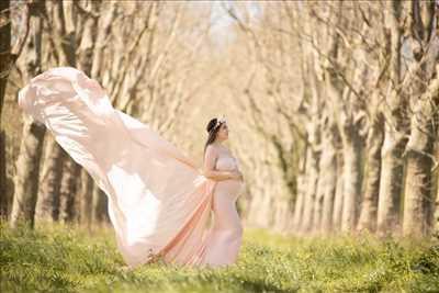 photo prise par le photographe Agnes à Capbreton : photo de grossesse
