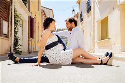 photo numérisée par le photographe Damien à Nîmes : shooting grossesse
