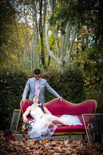 Shooting photo effectué par le photographe Severine à Alès : shooting mariage