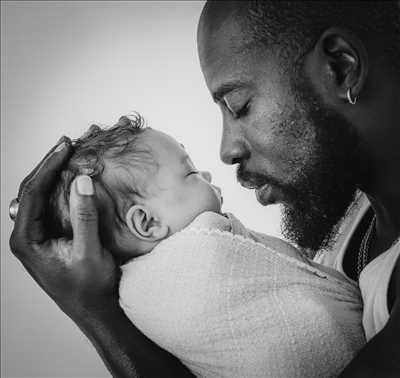 photo numérisée par le photographe Sandra à Bayonne : shooting pour une naissance