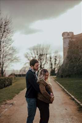 photo numérisée par le photographe Léa  à Reims : photographie de grossesse
